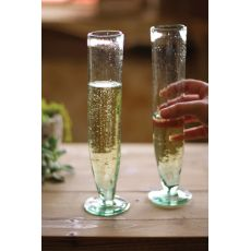 Tall Recycled Champagne Flute Set of 6