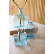 Recycled Glass Square Glass Vases, Set of 3