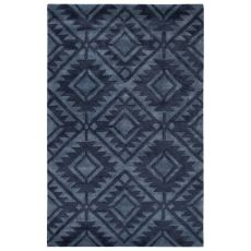 Tribal Pattern Wool And Viscose City Area Rug