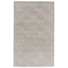 Geometric Pattern Wool And Viscose City Area Rug