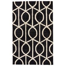 Geometric Pattern Wool And Viscose City Area Rug