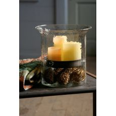 Giant Glass Candle Cylinder With Rustic Insert