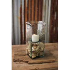 Square Candle Hurricane - Medium 6X6X15