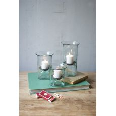 Recycled Glass Votive Cylinders Set of 3