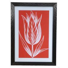 Chromatic Tulips 8 Framed Print