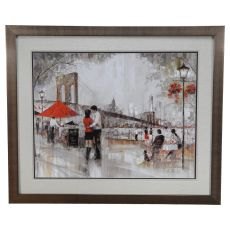 New York Romance Framed Print