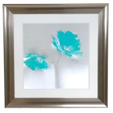 Aqua Petals 2 Framed Print