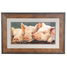 Pig Heaven Framed Print