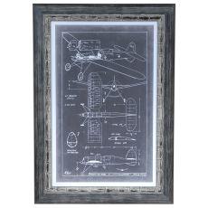 Aeronautic Blue Prints 2 Framed Print