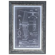Aeronautic Blue Prints 4 Framed Print