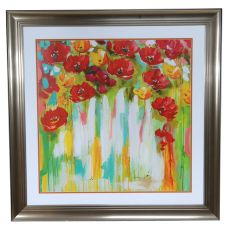 Poppies Glowing Framed Print