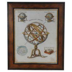 Geographical Illustrations Framed Print