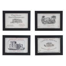 Vintage Wine Set 4 Framed Print