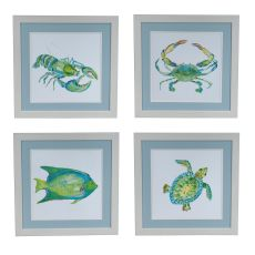 Sealife 1,2,3,4 Set 4 Framed Print