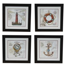 Nautical Collection 1,2,3,4 Set 4 Framed Print