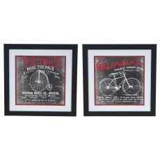 Antique Bicycle 1 & 2 Set 2 Framed Print