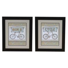 Cycle & Bike Set 2 Framed Print