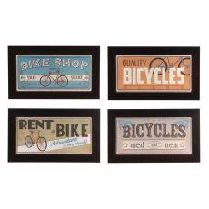 Bike Shop (Set Of Four) Framed Print