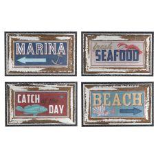 Shoreline Signs (Set Of Four) Framed Print