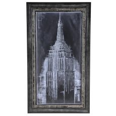 Empire Blueprint Framed Print