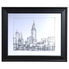Wire Frame Cityscape 2 Framed Print