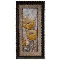 Ochre Tulips 1 Framed Print