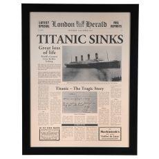 Titanic Sinks Framed Print
