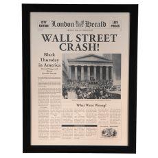 Wall Street Crash Framed Print