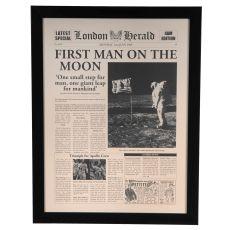 First Man On Moon Framed Print