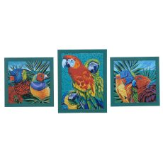 Birds In Paradise 1,2,3 (Set) Domestic Wall Art