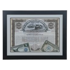 Antique Stock Certificate 1 Domestic Wall Art