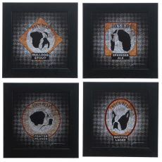 Hounds Tooth 1,2,3 & 4 (Set Of 4) Domestic Wall Art