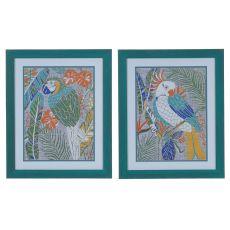 Tropical Macaw & Cockatoo (Set) Domestic Wall Art