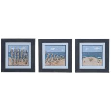 Beach Scene 1,2, & 3 (Set Of 3) Domestic Wall Art