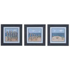Beach Scene 1,2, & 3 (Set Of 3) Domestic Wall Art
