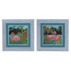 Flamingo 1 & 2 (Set) Domestic Wall Art