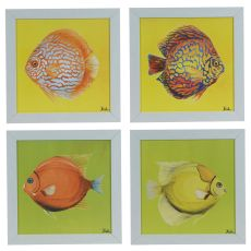 Bright Aquatic Life (Set Of 4) Framed Print