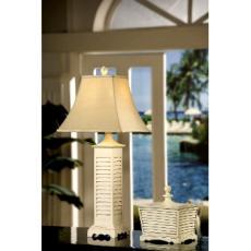 White Shutter Table Lamp