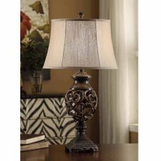 Scrolled Iron Table Lamp
