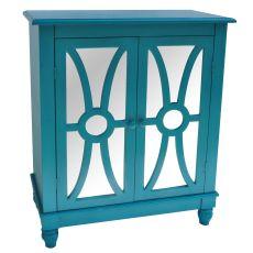 Clairemont Turquoise 2 Door Cabinet