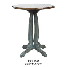 Chatsworth Grey Scallopped Accent Table