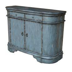 Harrison Distressed Grey 2 Door Cabinet