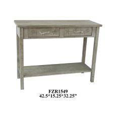 Seaside White Shell 2 Drawer Console