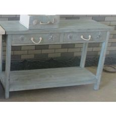 Bayside Blue Shell 2 Drawer Console
