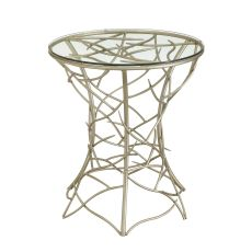 Ava Silver Twig Metal Accent Table