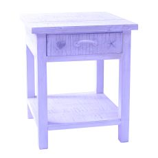 Bayside Blue Shell 1 Drawer End Table