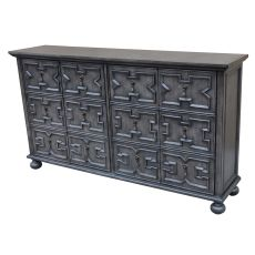 Rutledge Antique Grey 4 Door Pattern Front Sideboard