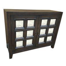 Willow Creek Aged Oak And Mirror 2 Door Cabinet