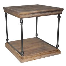 La Salle Metal And Wood End Table