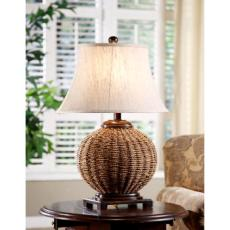 Wicker Table Lamp
